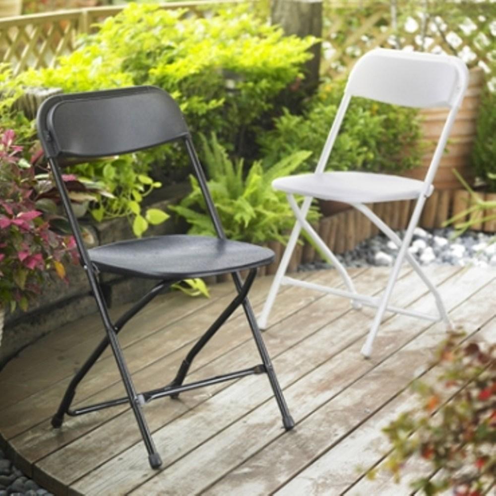 耐衝擊戶外折疊椅 黑色 好堆疊 好收納