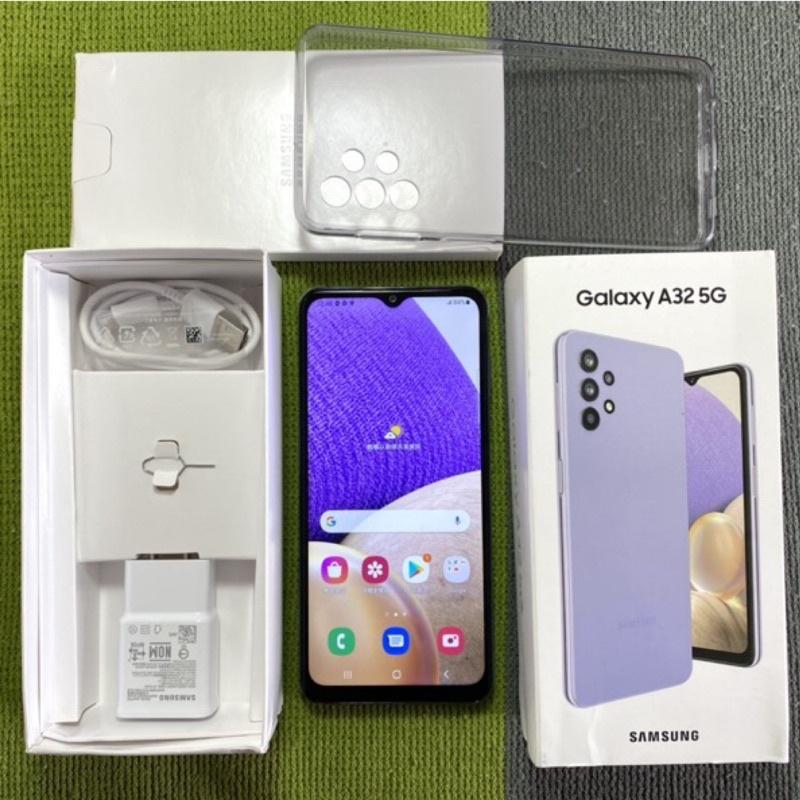 Samsung A32 5G 6G 128G 9成新 保固到明年4月 A326 紫 三星 豆豆機 二手機 面交 貨到付款