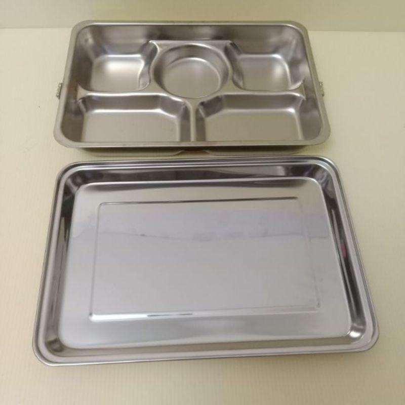 蝴蝶牌304不鏽鋼5格餐盒(附蓋)  不銹鋼餐盤 不銹鋼便當盒 分格便當盒 304不鏽鋼便當盒 自助餐餐盒 便當盒