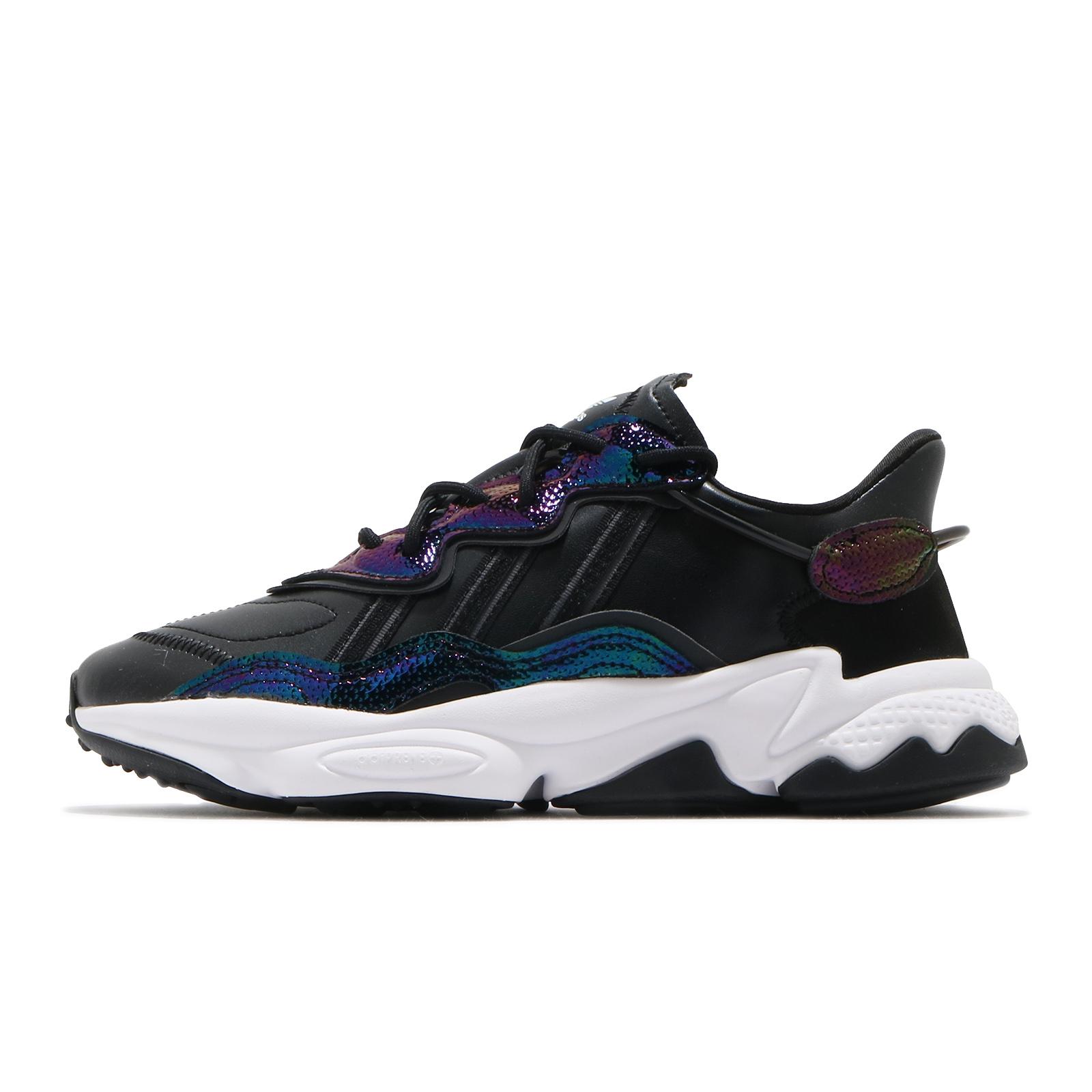 adidas 休閒鞋 OZWEEGO W 黑 彩虹 多彩光澤 女鞋 愛迪達 三葉草【ACS】 EG9160