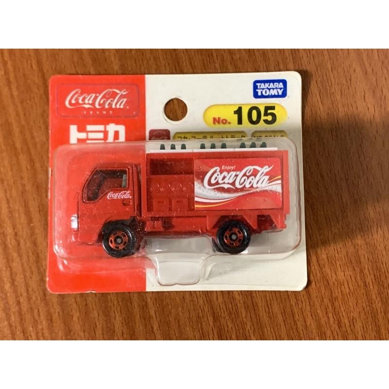takara tomy tomica no.105 可樂車 可口可樂 貨車 吊卡