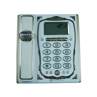【爆款】電話機座機家用辦公室固定電話有線坐機 來電顯示語音報號免電池