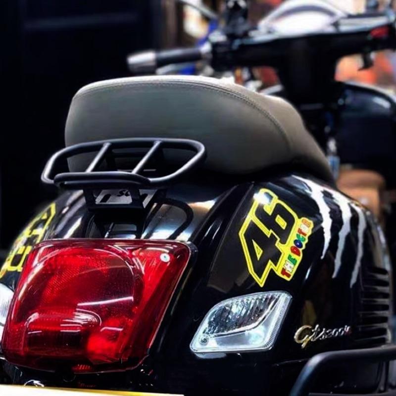 Vespa現貨偉士牌後扶手架 尾架 賽車扶手 貨架 春天 衝刺 LX GTS GTV 改裝 後扶手