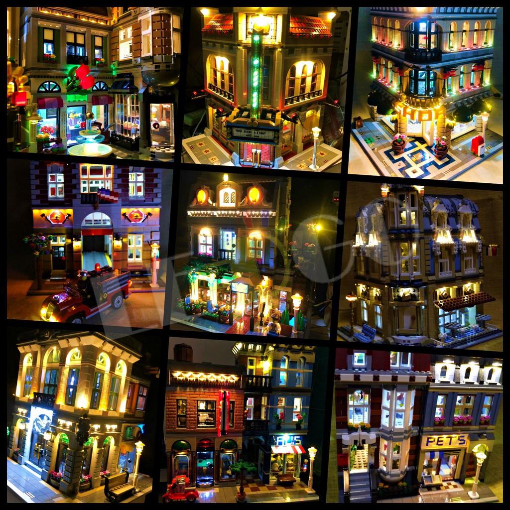 LEGO 樂高 10182 Cafe Corner 轉角咖啡屋 燈組 燈光