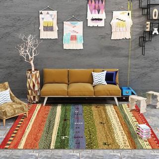 【200*300cm】超大 民族風地毯 家居裝飾 摩洛哥地毯 客廳臥室床邊地毯 波西米亞地墊滿鋪 美式機洗