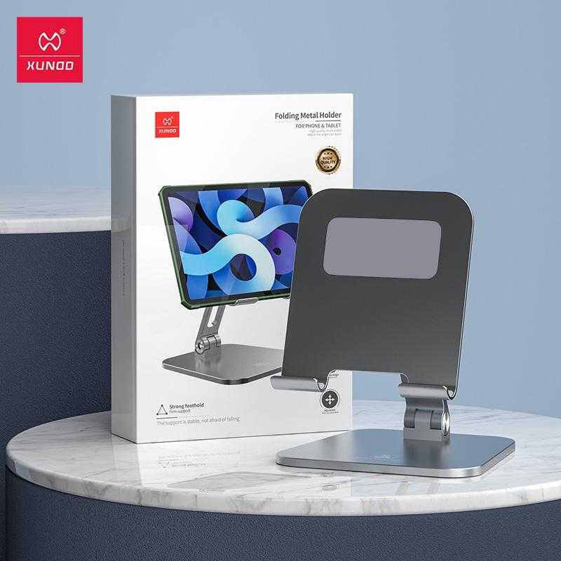 Xundd迅迪平板電腦支架適用於 iPad Pro 12.9桌面金屬支架可調節手機平板iPad適用直播網紅