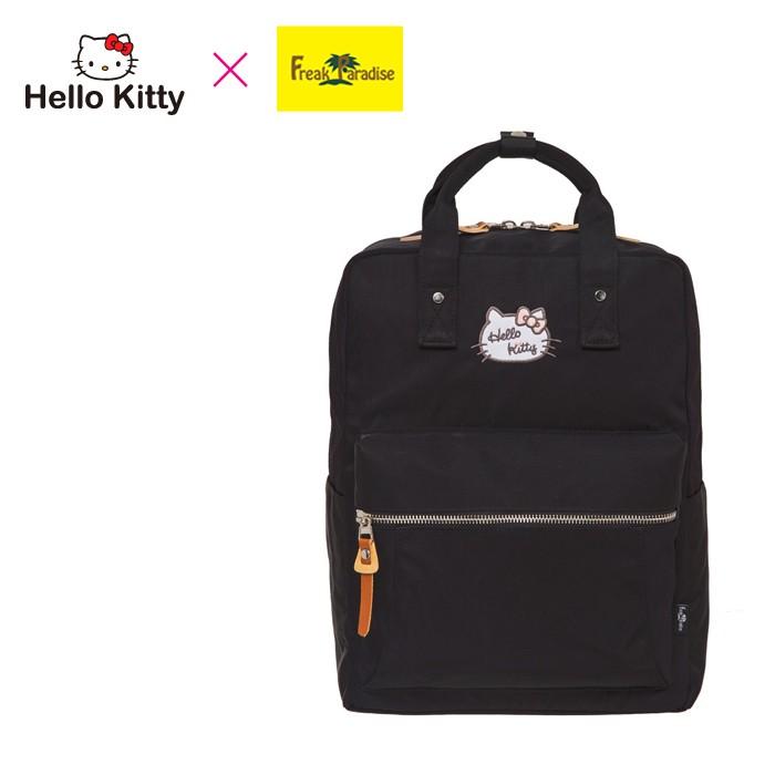 Hello Kitty x Freak Paradise 凱蒂學院-方型後背包-黑 FPKT0F001BK