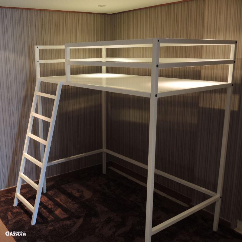 全新 北歐風設計款 3尺【空間特工】 38mm方管 架高床單人床架設計 床組 床板 挑高床 O2A718