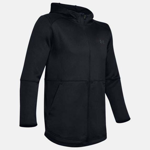 UA MK-1 Warm-Up 男裝 外套 連帽 拉鍊 口袋 透氣 訓練 休閒 黑【運動世界】1345259-001
