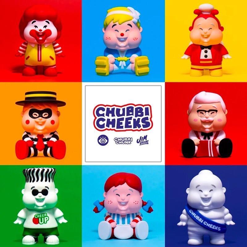 Unbox Chubbi Cheeks Family 小胖子系列 七喜 米其林 漢堡神偷 隱藏 異色版