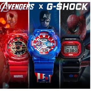 【怪怪】限定 G-Shock X 漫威 復仇者 鋼鐵人紅金戰甲 G-Shock蜘蛛人 美國隊長 GA-110 卡西歐手錶