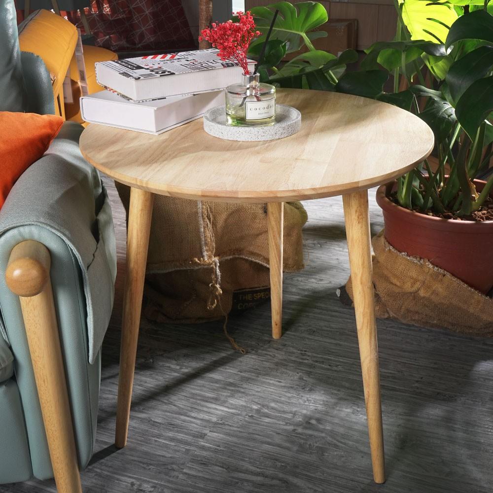 YoStyle 圓形高腳實木茶几  邊桌 電話桌 咖啡桌
