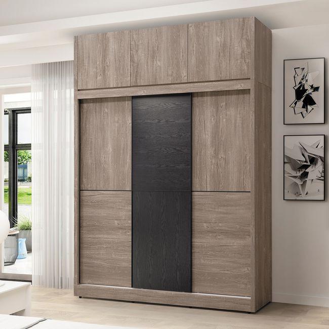 【HB22-03】波爾多6尺高衣櫥(含上櫃)