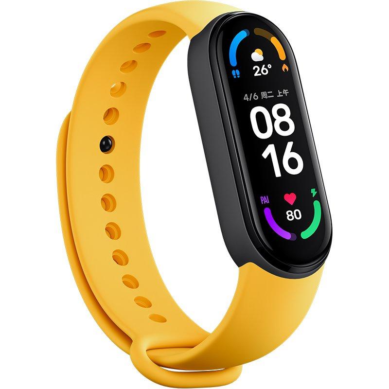材質6標準手環透氣通用手環智能小米NFC官方親膚替換正品運動腕帶帶多彩 qtkM