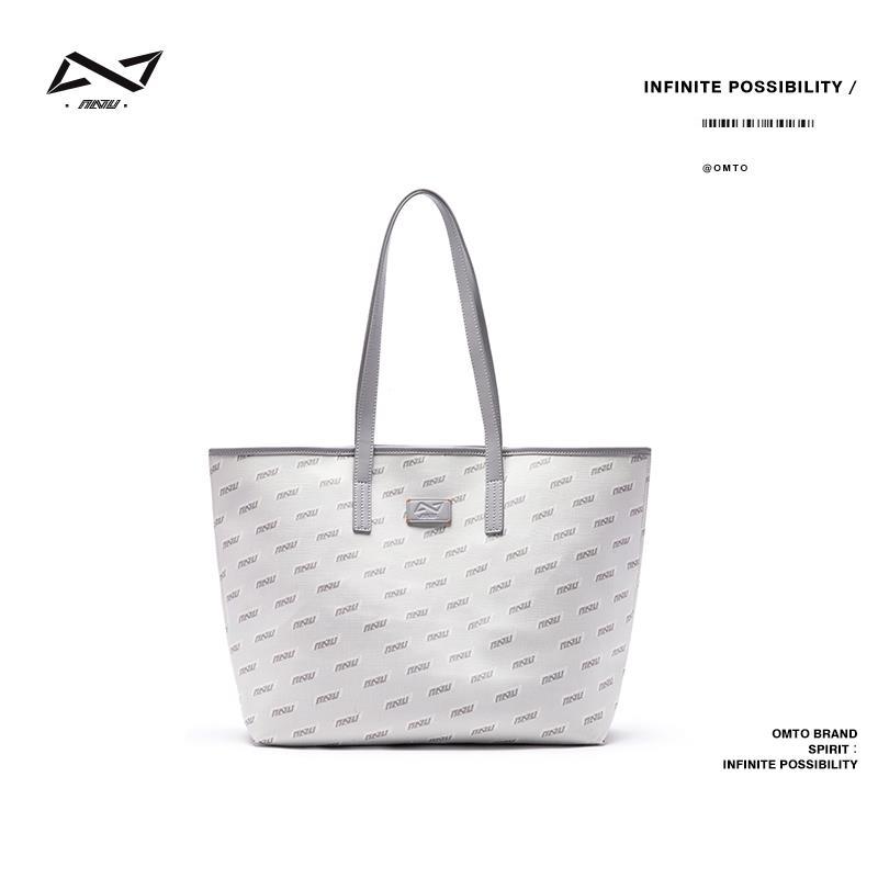 德全有限公司 omto託特包包女小衆設計大容量大學生上課通勤內膽大包單肩手提包