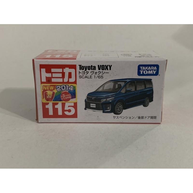 TOMICA TOMY 多美小汽車 絕版2014年新車貼NO.115 TOYOTA VOXY 豐田休旅車