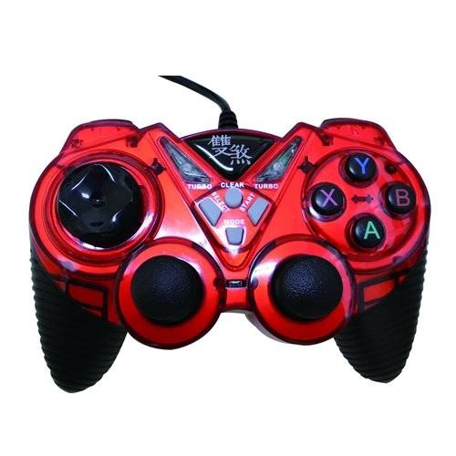 sun-yes 紅/雙煞 雙震動搖桿 (支援360) 遊戲搖桿 電腦搖桿 XBOX360搖桿