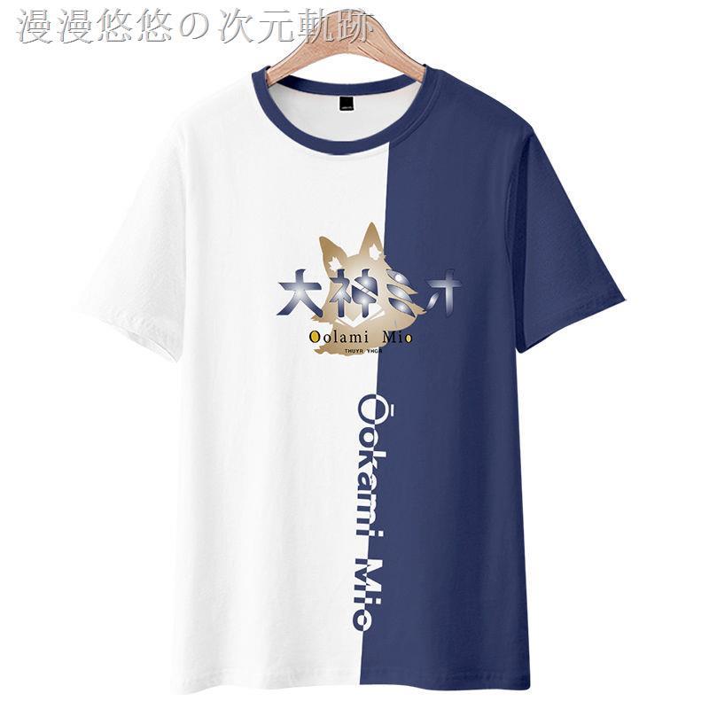 ❈虛擬主播vtuber大神澪周邊日系T恤男動漫二次短袖體恤痛衣服夏