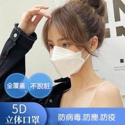 韓版全覆蓋KF94 男女4D立體魚型口罩 四層防病菌防塵防疫口罩 印花口罩 拋棄式口罩 一次性口罩