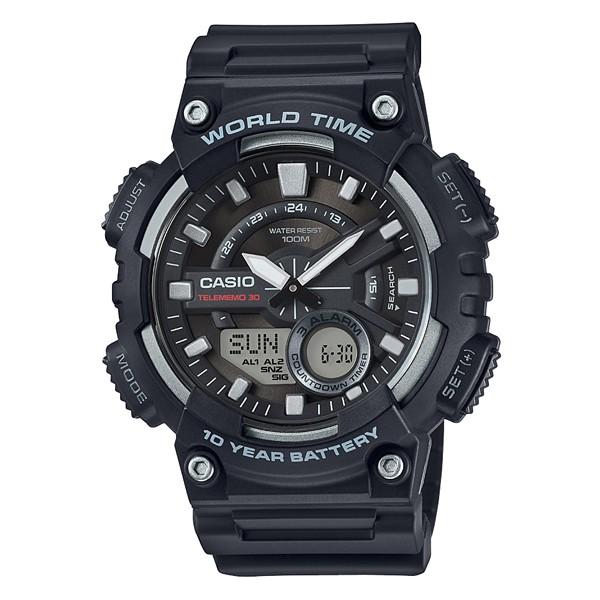 【CASIO】CASIO 10年電力 手錶 AEQ-110W-1A AEQ-110W防水100米 台灣卡西歐保固一年