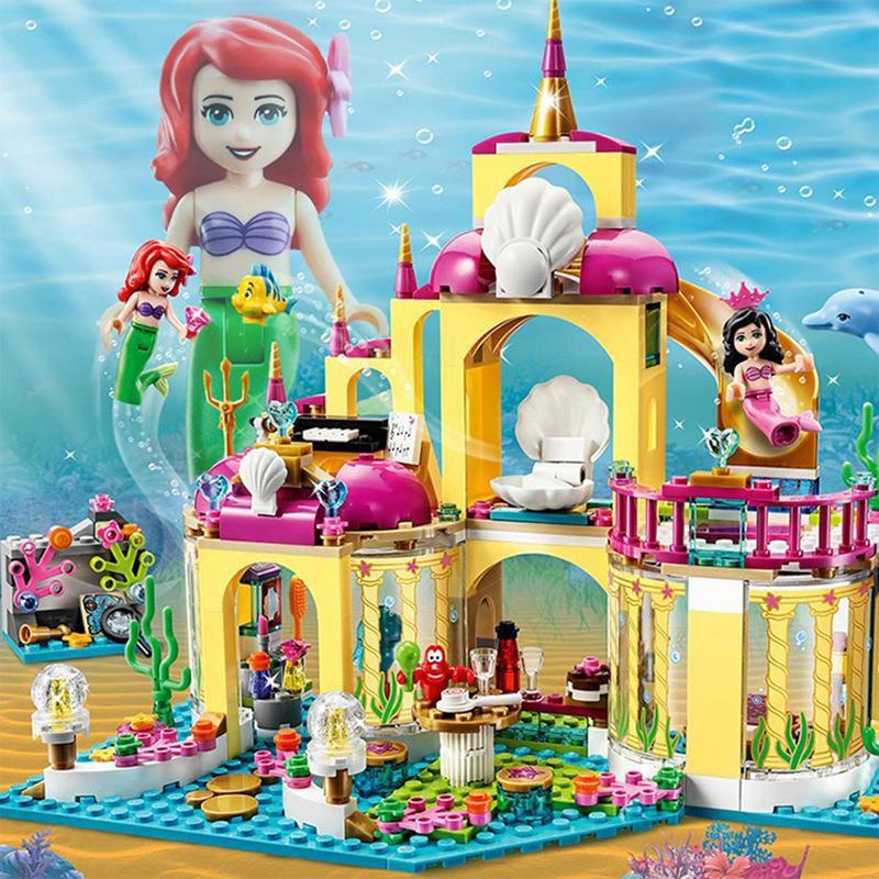 益智の兼容樂高女孩子公主夢美人魚的海底宮殿城堡別墅6-12歲拼插玩具