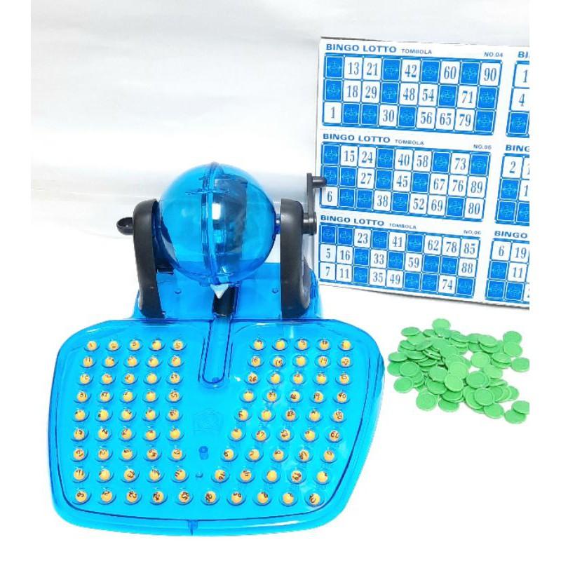二手 兒童 手搖 賓果 樂透 遊戲 桌遊 玩具 90球 48卡 Bingo  開獎機 搖獎機 抽獎機 數字球 遊戲