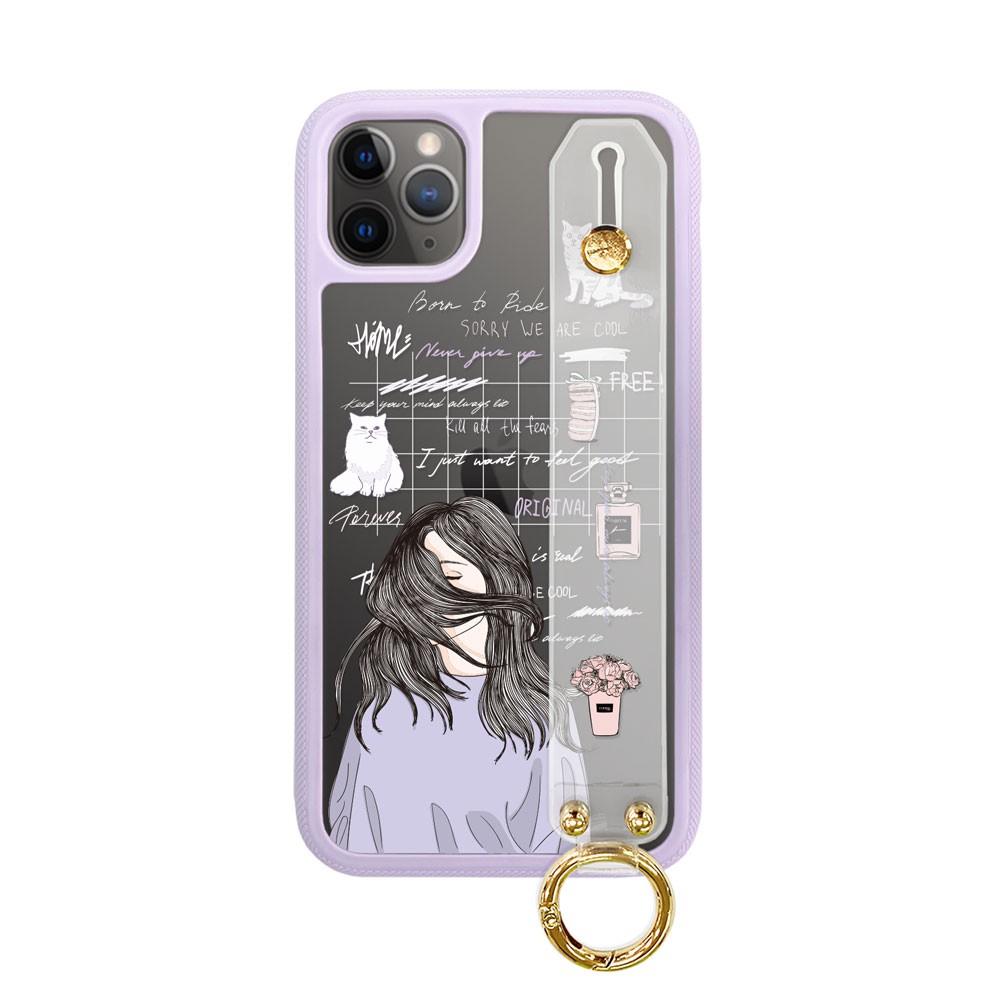 【MOOTUN】iPhone全型號 手腕帶經典系列防摔手機殼 保護殼_(女孩日記)
