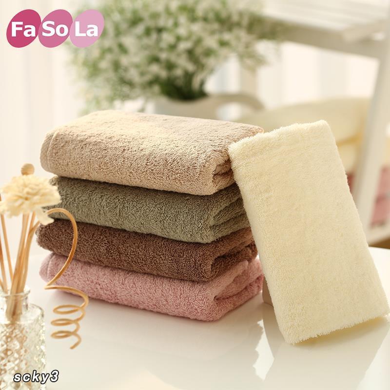 日本FaSoLa純色簡約毛巾 純棉加厚浴巾 超柔吸水小毛巾
