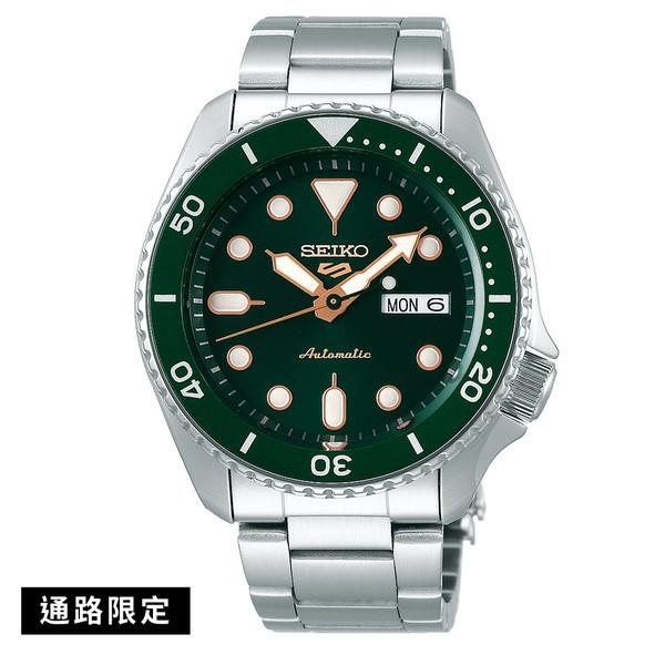 SEIKO 精工錶 5SPORTS 復刻潛水風綠面玫瑰金針鋼帶錶 SRPD63K1 4R36-07G0G 台灣公司貨