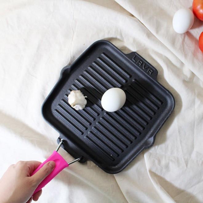 【土耳其LAVA】摺疊兩用煎烤盤21cm (粉/黃)《屋外生活》烤盤 烤肉 煎牛排 燒烤 中秋烤肉