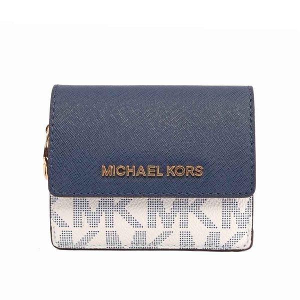 697689e36bb7 MICHAEL KORS PVC/皮革萬用小夾(任選)   蝦皮購物