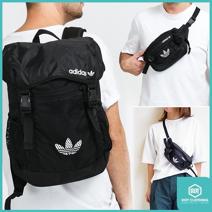 DOT 潮流小物 Adidas Originals ADV 腰包 GN2233 後背包 GN2235 三葉草 網狀袋