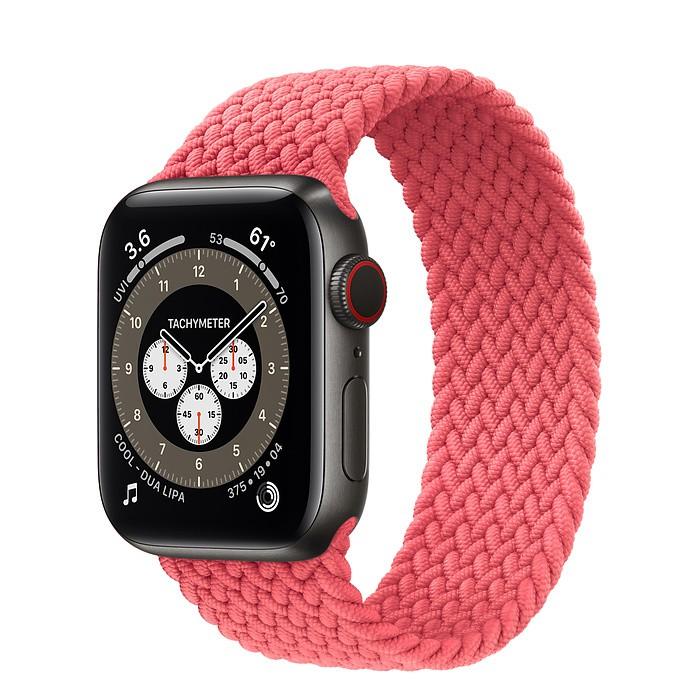 ☆創創通訊☆全新Apple Watch Series 6  太空黑色鈦金屬44 公釐錶殼;編織單圈錶環 保固一年