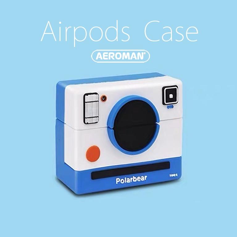 airpods pro 保護套 拍立得 相機 單眼 IG 藍白 instagram DJ 柴犬 柯達 底片