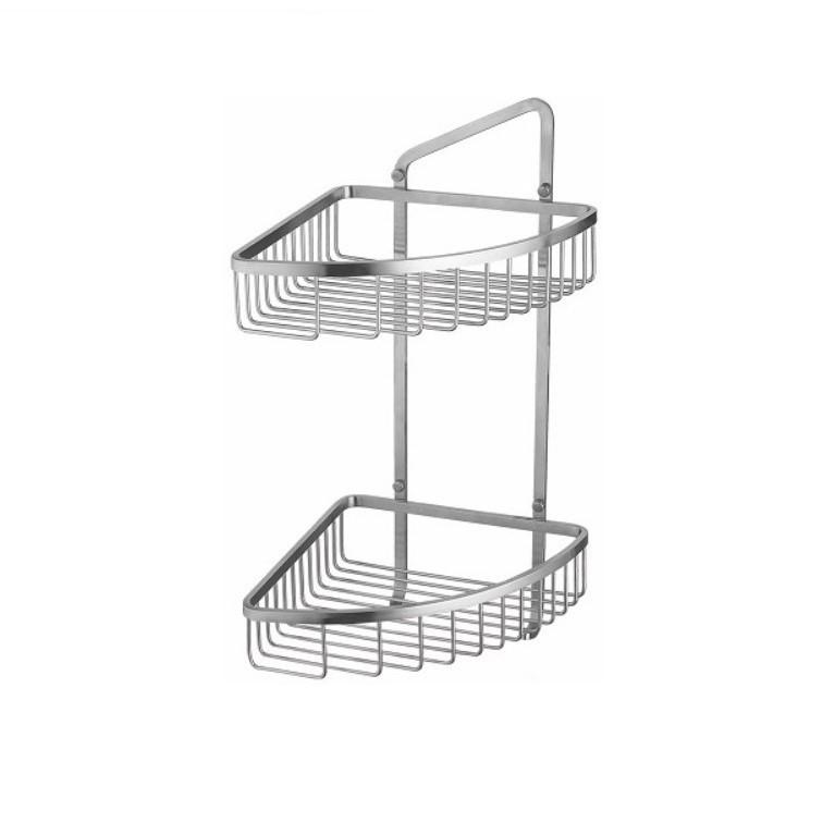 Cozy衛浴 雙層置物網籃 型號 尺寸 YC-823 46x23x22.5cm ST304不鏽鋼 霧面