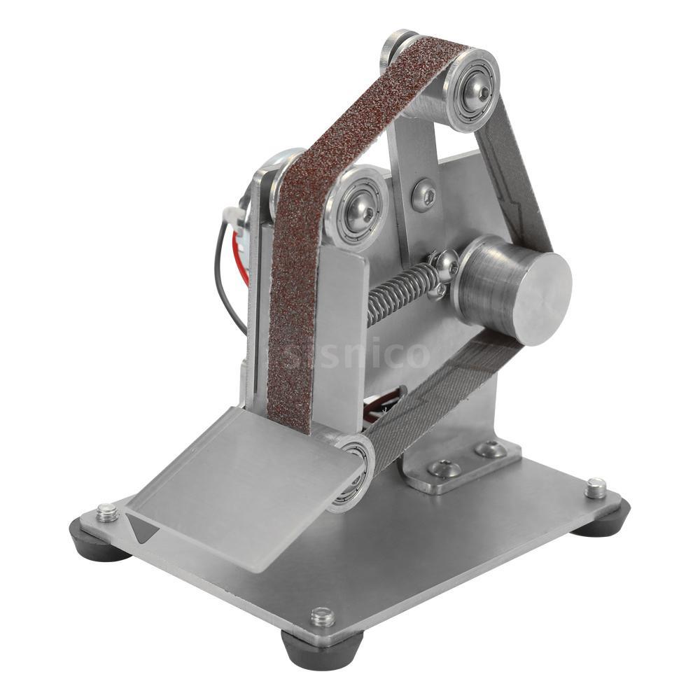 Sis 微型小型迷你砂帶機DIY拋光機打磨機定角磨刀開刃台式機25型裸機+調速器歐規110-240V