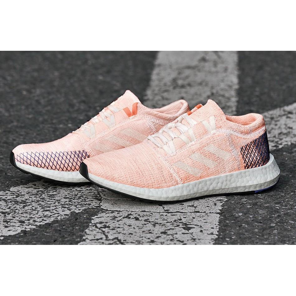 女鞋 adidas pureboost go 愛迪達慢跑鞋 緩震輕量透氣 編織 b75666 正品 台灣公司貨 粉紅藍