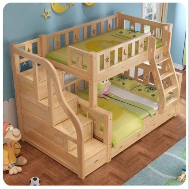 全新實木高低子母床雙層床上下舖兩層兒童床 可分拆兩張母子床