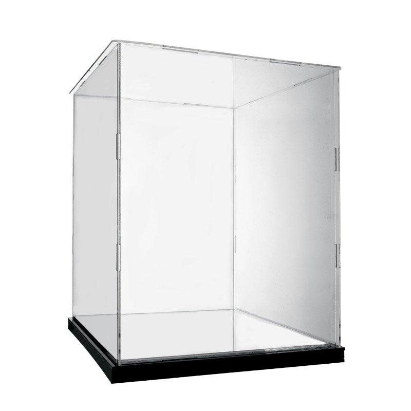 精品亞克力展示盒透明玻璃罩收納盒適用LEGO樂高 高速賽車42073防塵盒