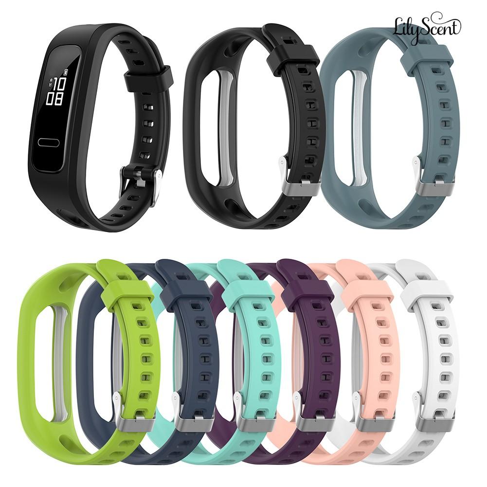 Lilyscent📢適用於華為榮耀手環 4 running版 /手環band 3E矽膠錶帶 替換腕帶