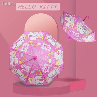 新品熱銷✎❐可愛公主卡通兒童傘自動幼兒長柄晴雨傘小學生女孩KT貓大兒童雨傘