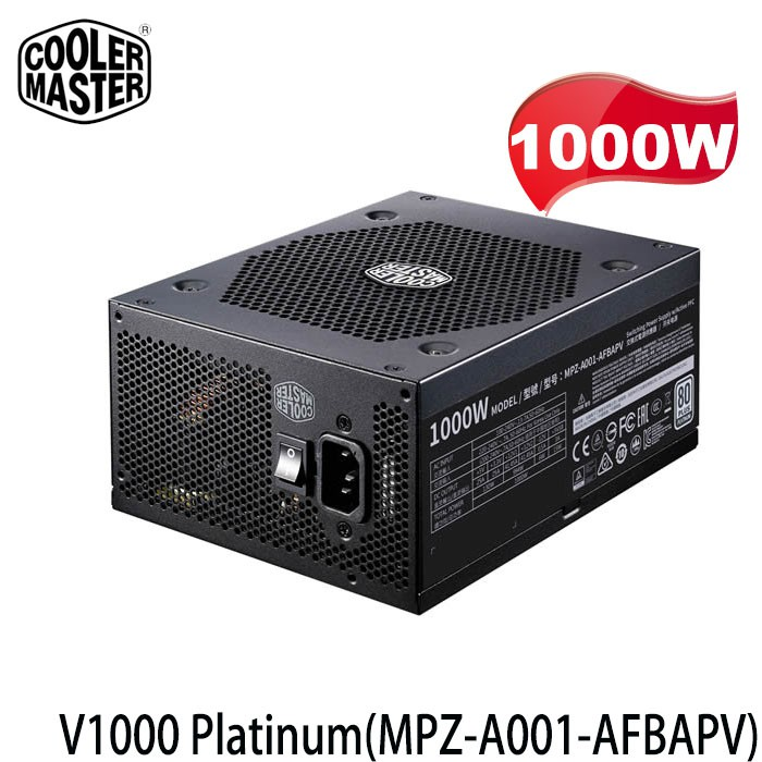 【3CTOWN】含稅 CoolerMaster 1000W V1000 Platinum 80+白金牌 全模組電源供應器