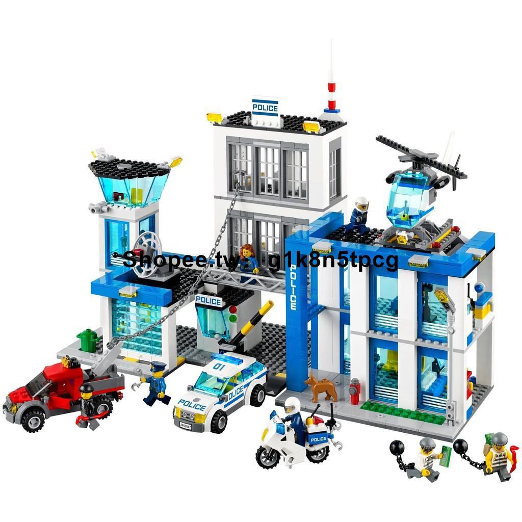 【娜美子的小店】【樂高】樂高城市系列警察局警系局兒童男孩子積木拼裝益智力8玩具房城堡6
