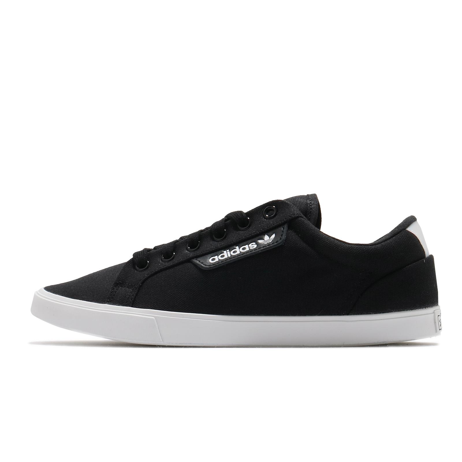 adidas 休閒鞋 Sleek Lo 黑 白 女鞋 帆布 三葉草 愛迪達 【ACS】 FV0743