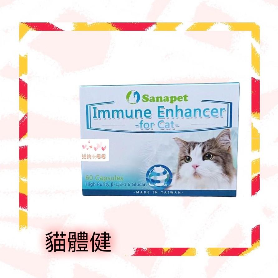 台灣  裕達 U-start狗狗 貓咪 【桑納沛】貓體健 膠囊 60顆