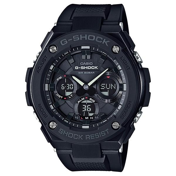 【金台鐘錶】CASIO卡西歐G-SHOCK 太陽能 鬧鈴 膠帶錶-消光黑GST-S100G-1B  GST-S100G
