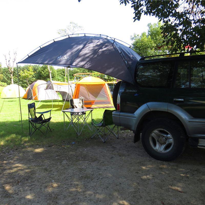 露營車戶外自駕遊燒烤野營車尾車邊帳蓬汽車遮陽車尾延伸帳篷用品