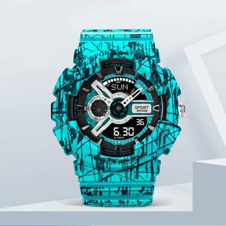 手錶男女 爆裂系列 卡西歐同款 數字+指針雙顯示 防水夜光 運動手錶 潮流手錶潮 臺中市
