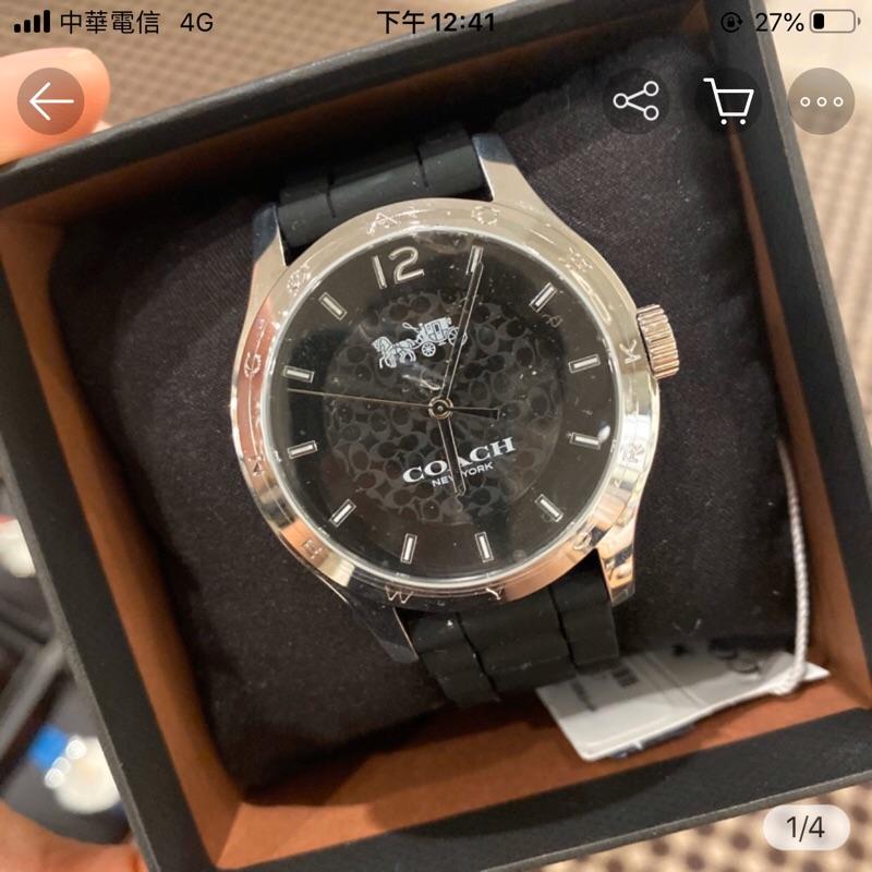 Coach黑底 女款 手錶