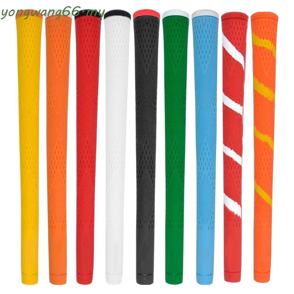 Yw 高爾夫配件高爾夫握把通用球桿握把高爾夫球桿高品質高爾夫練習 Rubbe 高爾夫訓練多彩高爾夫木握把 / 多色